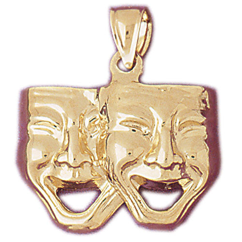 14K GOLD MISCELLANEOUS CHARM - DRAMA MASK #6079