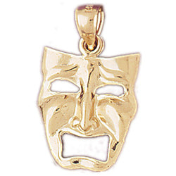 14K GOLD MISCELLANEOUS CHARM - DRAMA MASK #6084
