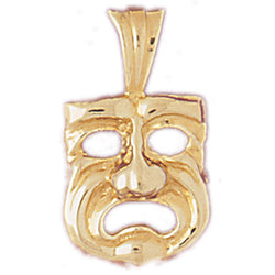 14K GOLD MISCELLANEOUS CHARM - DRAMA MASK #6088