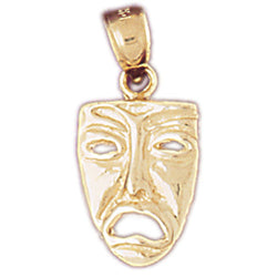 14K GOLD MISCELLANEOUS CHARM - DRAMA MASK #6089