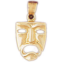 14K GOLD MISCELLANEOUS CHARM - DRAMA MASK #6090