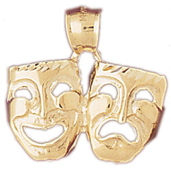 14K GOLD MISCELLANEOUS CHARM - DRAMA MASK #6094