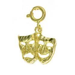 14K GOLD MISCELLANEOUS CHARM - DRAMA MASK #6096