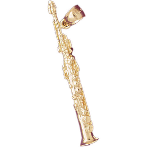 14K GOLD MUSIC CHARM - CLARINET #6201