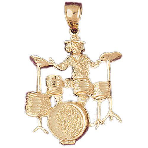 14K GOLD MUSIC CHARM - DRUM SET #6232
