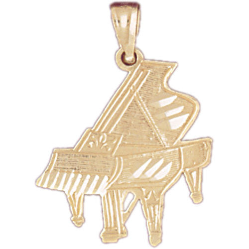 14K GOLD MUSIC CHARM - GRAND PIANO #6192