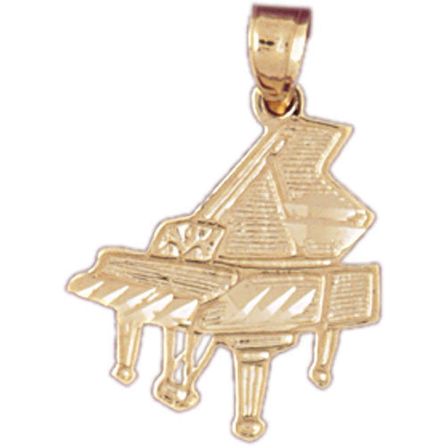 14K GOLD MUSIC CHARM - GRAND PIANO #6194