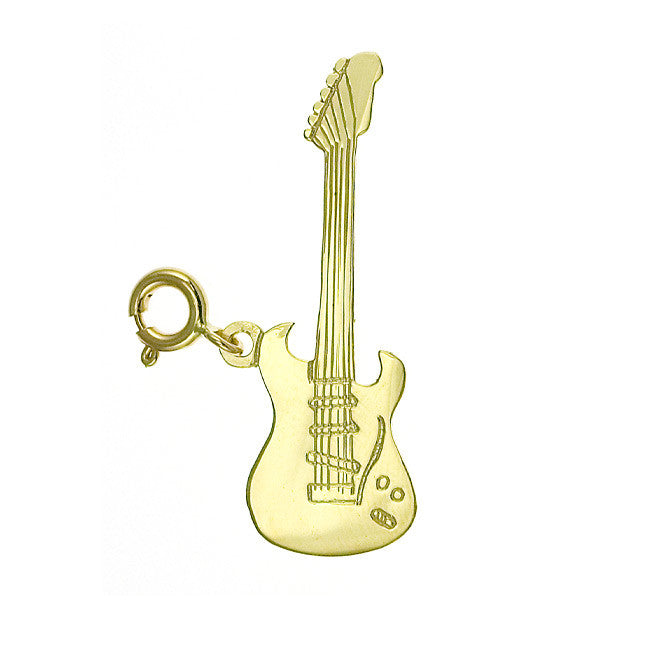 14K GOLD MUSIC CHARM - GUITAR #6208