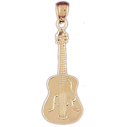 14K GOLD MUSIC CHARM - GUITAR #6222