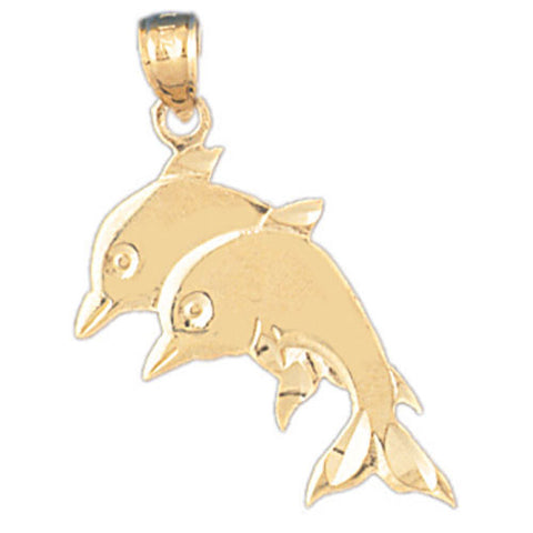 14K GOLD NAUTICAL CHARM - DOLPHIN #377