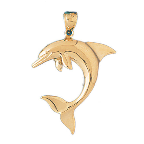 14K GOLD NAUTICAL CHARM - DOLPHIN #403