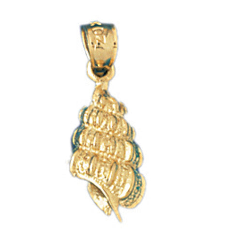 14K GOLD NAUTICAL CHARM - SHELL #313
