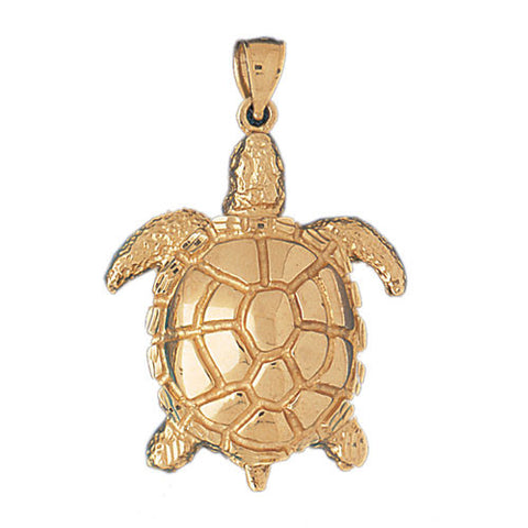 14K GOLD NAUTICAL CHARM - TURTLE #967