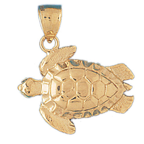 14K GOLD NAUTICAL CHARM - TURTLE #976