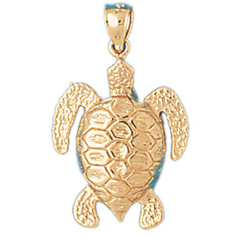14K GOLD NAUTICAL CHARM - TURTLE #978