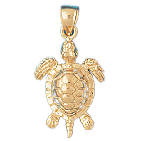 14K GOLD NAUTICAL CHARM - TURTLE #983