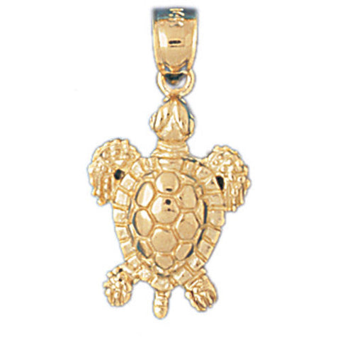 14K GOLD NAUTICAL CHARM - TURTLE #984