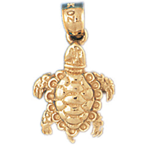 14K GOLD NAUTICAL CHARM - TURTLE #985
