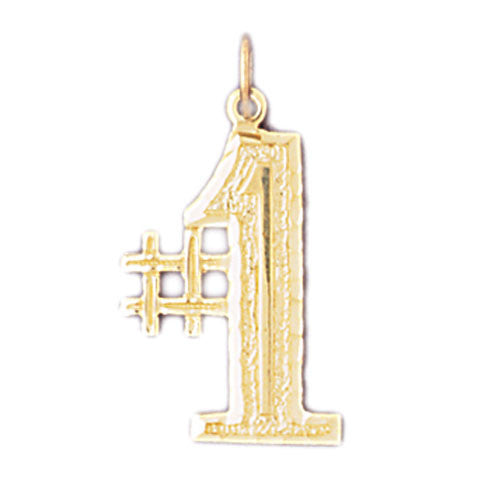 14K GOLD NUMERAL CHARM - #1 #9531