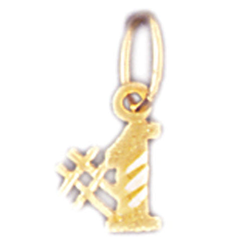 14K GOLD NUMERAL CHARM - #1 #9536