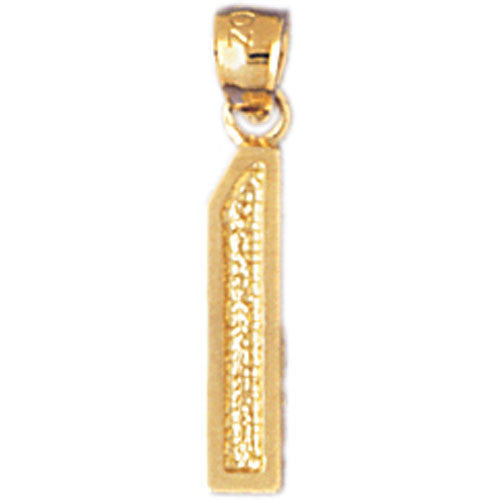 14K GOLD NUMERAL CHARM - 1 #9548