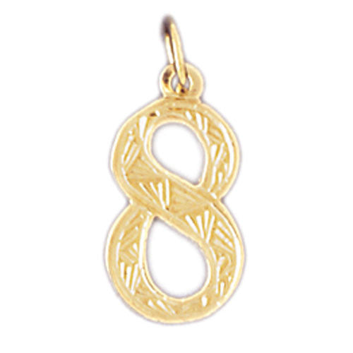 14K GOLD NUMERAL CHARM - #8 #9521