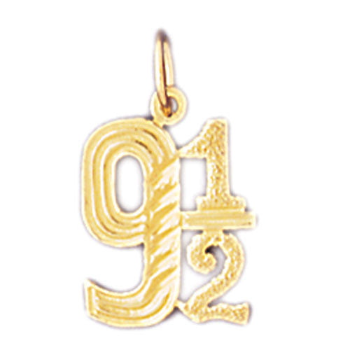 14K GOLD NUMERAL CHARM #9538
