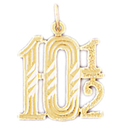 14K GOLD NUMERAL CHARM #9541