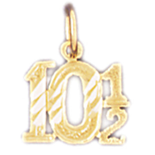 14K GOLD NUMERAL CHARM #9543