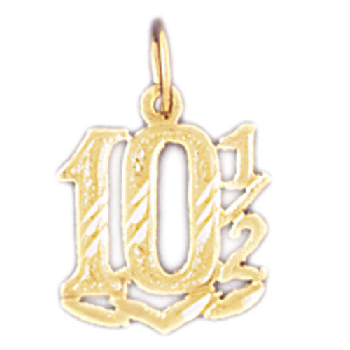 14K GOLD NUMERAL CHARM #9544