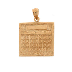 14K GOLD OFFICE CHARM - CALCULATOR #6433