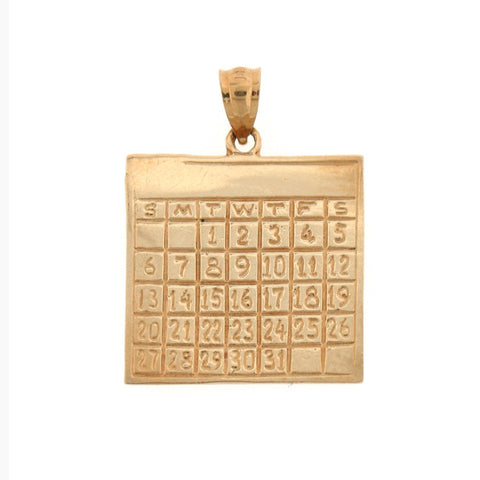 14K GOLD OFFICE CHARM - CALENDAR #6432