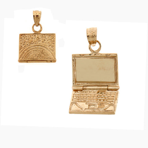 14K GOLD OFFICE CHARM - COMPUTER #6434