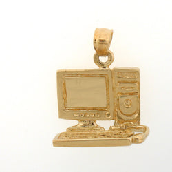 14K GOLD OFFICE CHARM - COMPUTER #6444