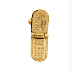 14K GOLD OFFICE CHARM - PHONE CELL #6446