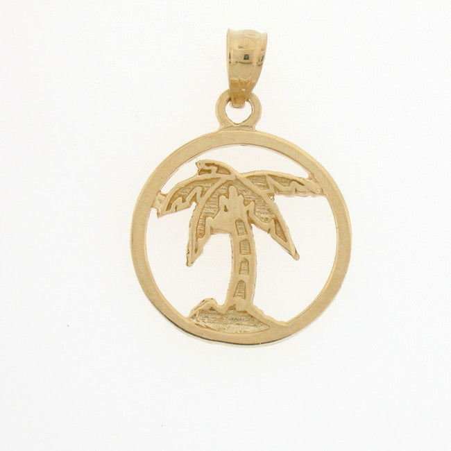14K GOLD PALM TREE CHARM #6356