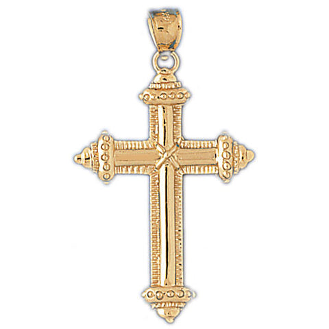 14K GOLD RELIGIOUS CHARM - CROSS #8097