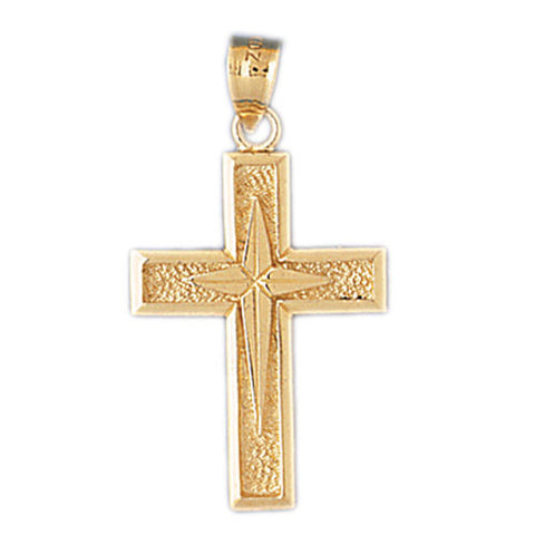 14K GOLD RELIGIOUS CHARM - CROSS #8136