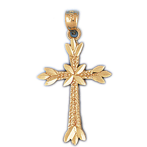 14K GOLD RELIGIOUS CHARM - CROSS #8184