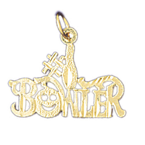 14K GOLD SAYING CHARM - #1 BOWLER #10796