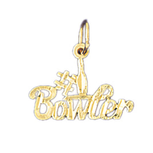 14K GOLD SAYING CHARM - #1 BOWLER #10798