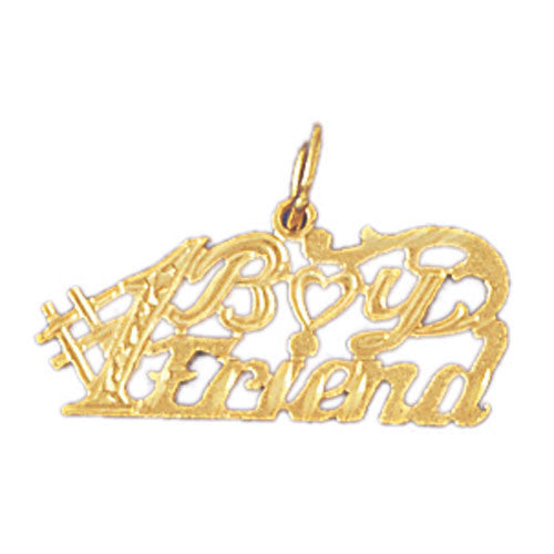 14K GOLD SAYING CHARM - #1 BOYFRIEND #10116