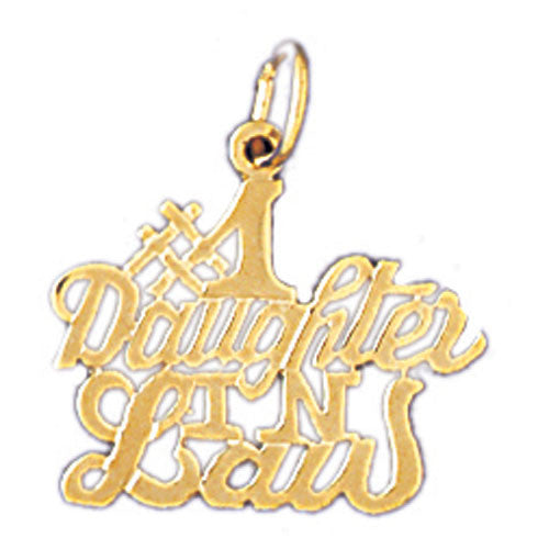 14K GOLD SAYING CHARM - #1 DAUGHTER IN LAW #10485
