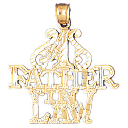 14K GOLD SAYING CHARM - #1 FATHER IN LAW #10481