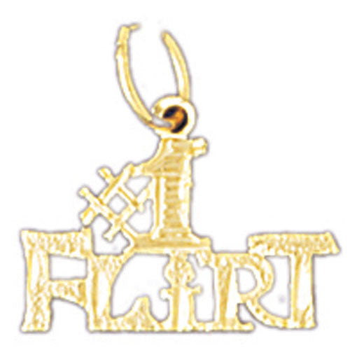 14K GOLD SAYING CHARM - #1 FLIRT #10576