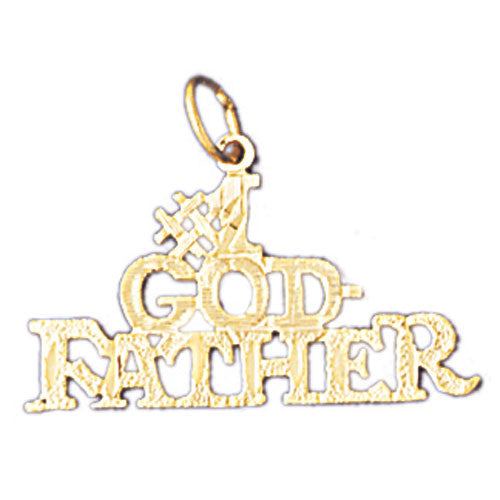 14K GOLD SAYING CHARM - #1 GODFATHER #10472