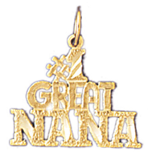 14K GOLD SAYING CHARM - #1 GREAT NANA #10496