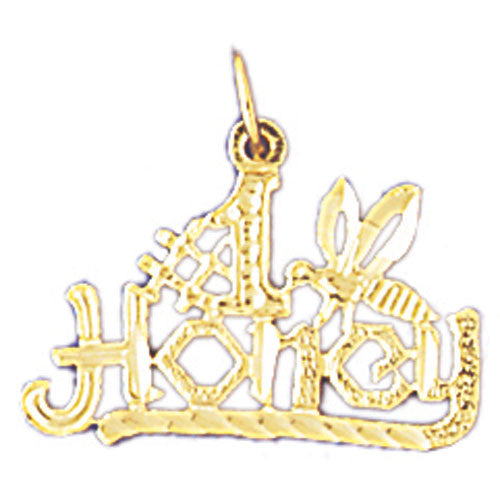 14K GOLD SAYING CHARM - #1 HONEY #10294