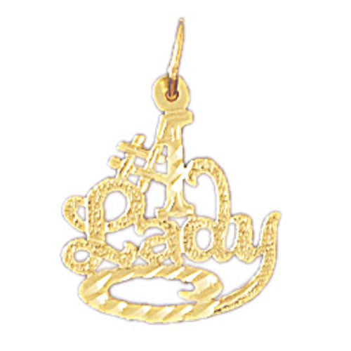 14K GOLD SAYING CHARM - #1 LADY #10134