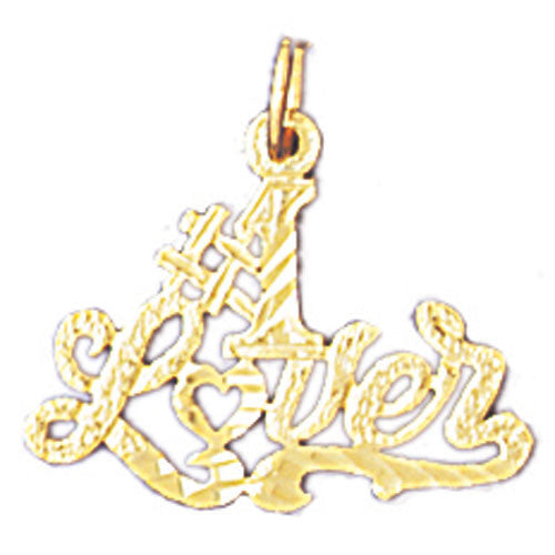 14K GOLD SAYING CHARM - #1 LOVER #10307